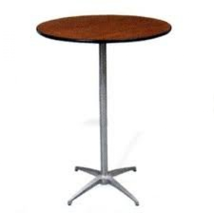 High Boy 30 inch round cocktail tables